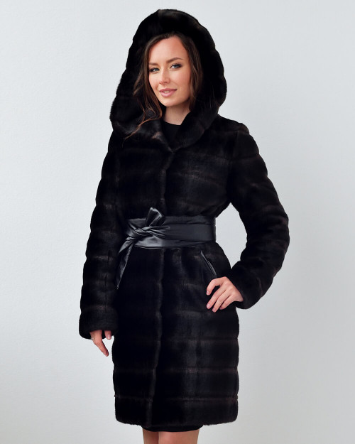 "Faux Fur Coat ""Warm Evenings"""