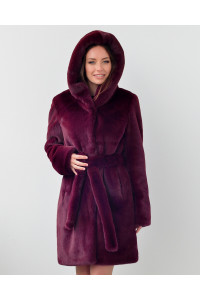 "Faux Fur Coat ""Fashionista in Purple"""