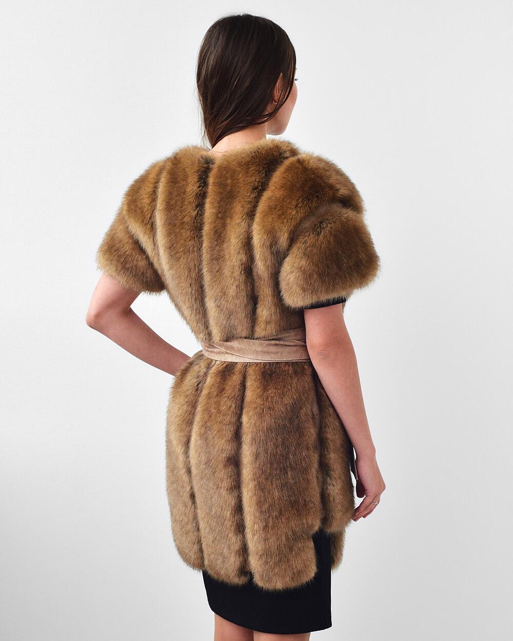 """Faux Fur Vest """"Dress To Impress"""""""