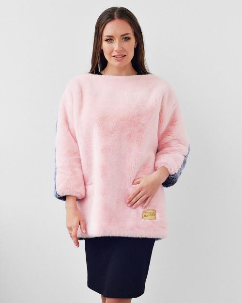 "Faux Fur Sweatshirt ""Cozy & Trendy"""