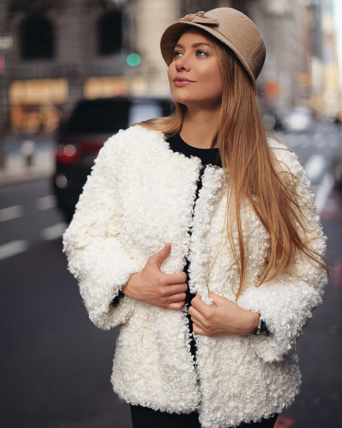 "Faux Fur Coat ""White Cloud"""