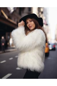 "Faux Fur Coat ""White Wind"""