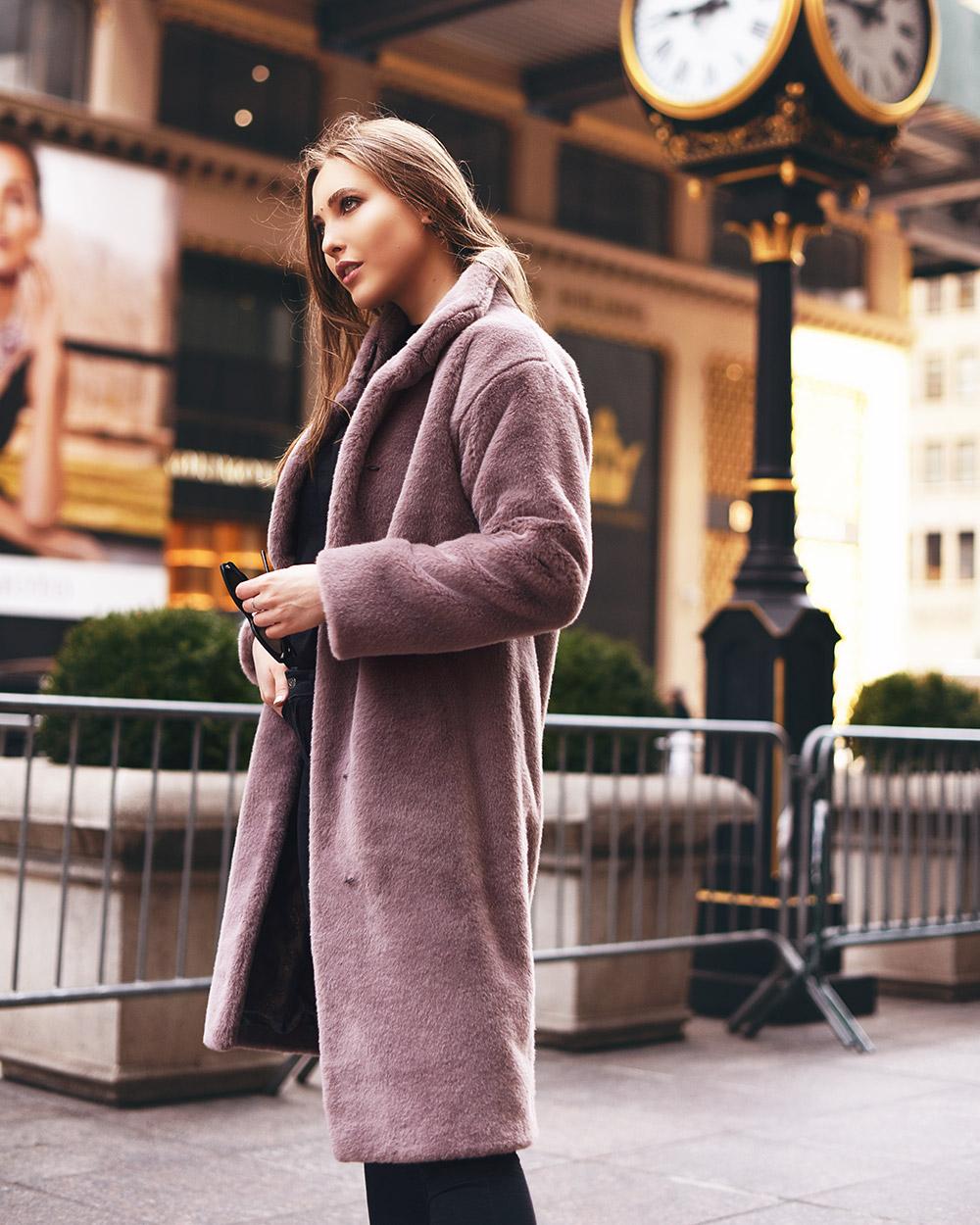 """Faux Fur Coat """"Tea Rose"""""""