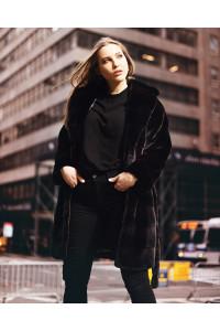 """Faux Fur Coat """"City Style"""""""