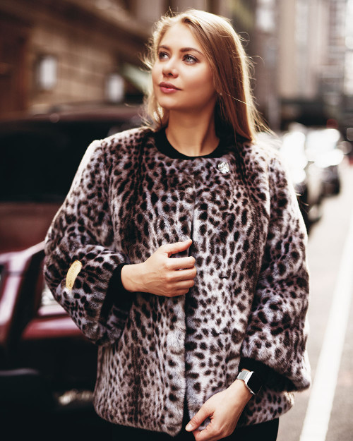"Faux Fur Coat ""Wild Cat"""
