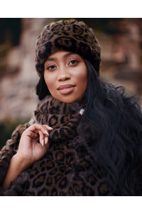 "Faux Fur Hat ""Gray Panther"""