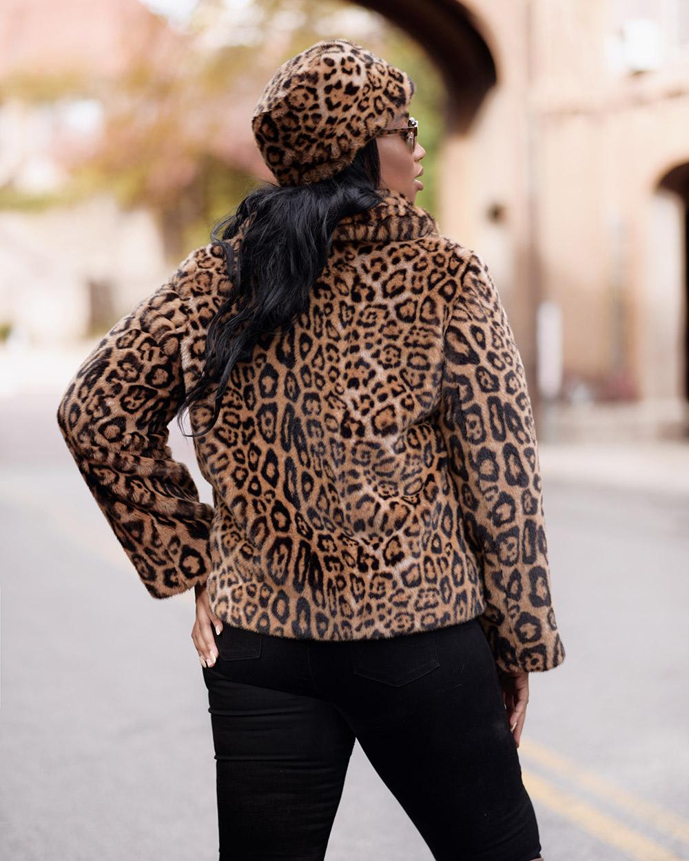 "Faux Fur Coat ""Yellow Panther"""