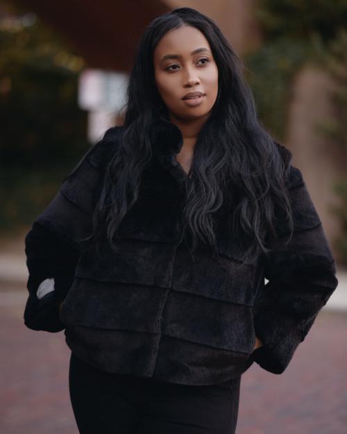 """Faux Fur Coat """"Morning in Queens"""""""