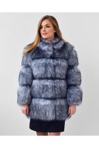"Faux Fur Coat ""Grey Fox"""