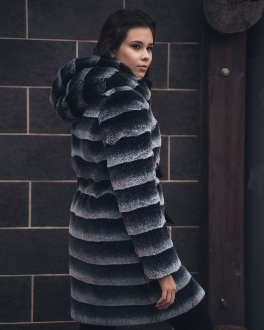 """Faux Fur Coat """"Evening of Dreams"""""""