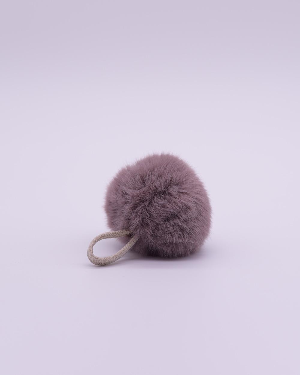 """Faux Fur Pompom """"Lavender"""""""