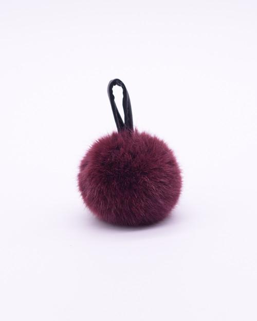 """Faux Fur Pompons """"Purple"""""""
