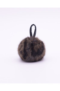 "Faux Fur Pompons ""Gray Panther"""