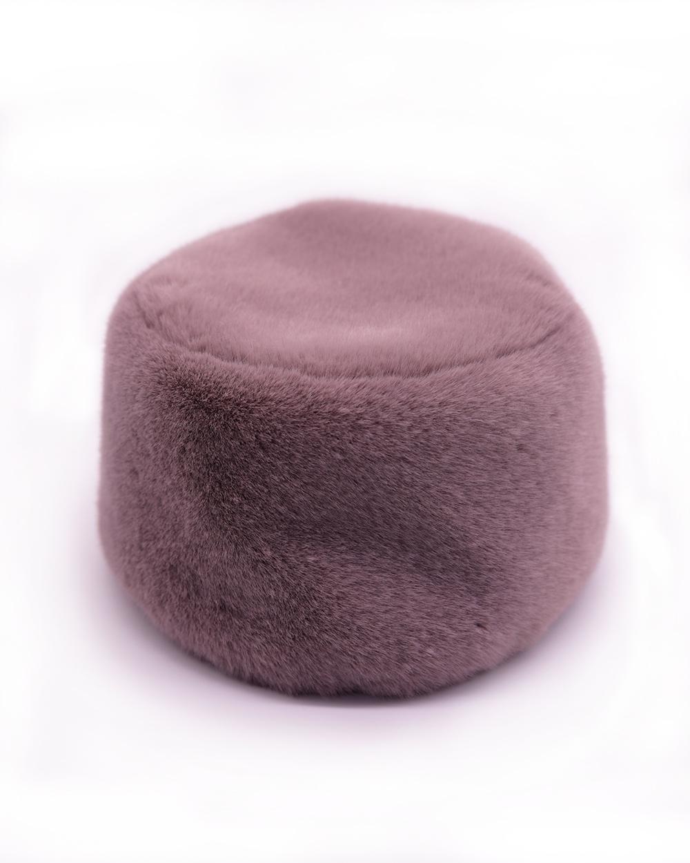 """Faux Fur Hat """"Tea Rose"""""""