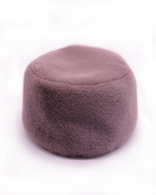 "Faux Fur Hat ""Tea Rose"""