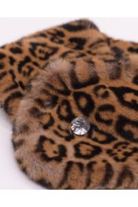 """Faux Fur Collar """"Yellow Panther"""""""