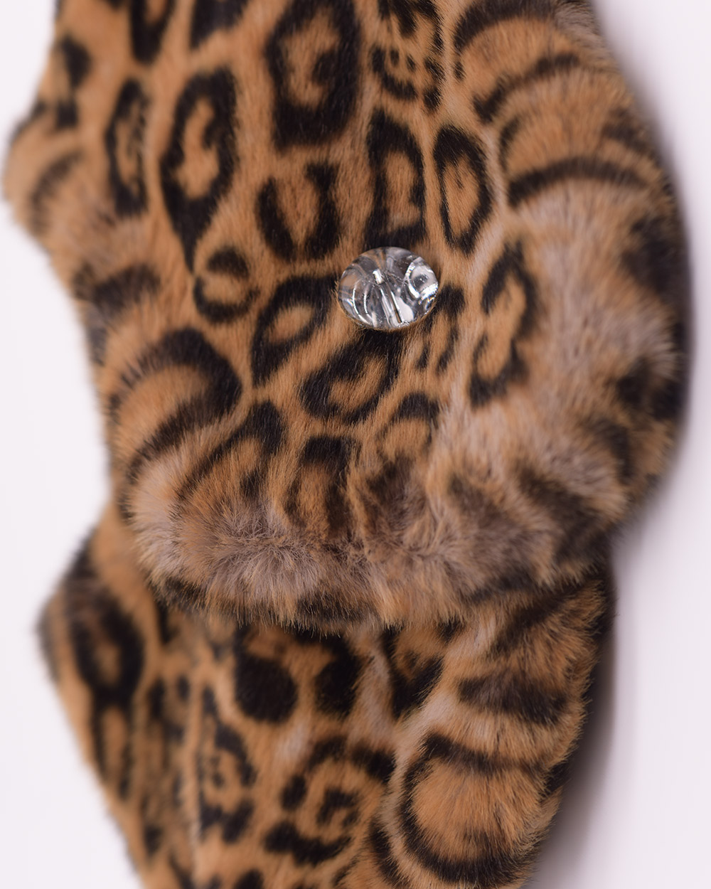 "Faux Fur Collar ""Yellow Panther"""