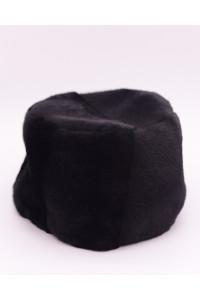 "Faux Fur Hat ""Black and Gray"""