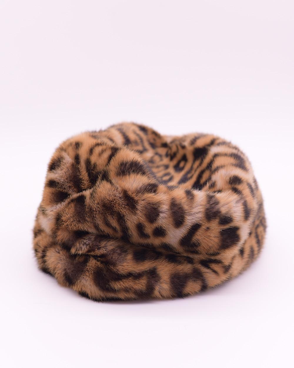 "Faux Fur Hat ""Yellow Panther"""