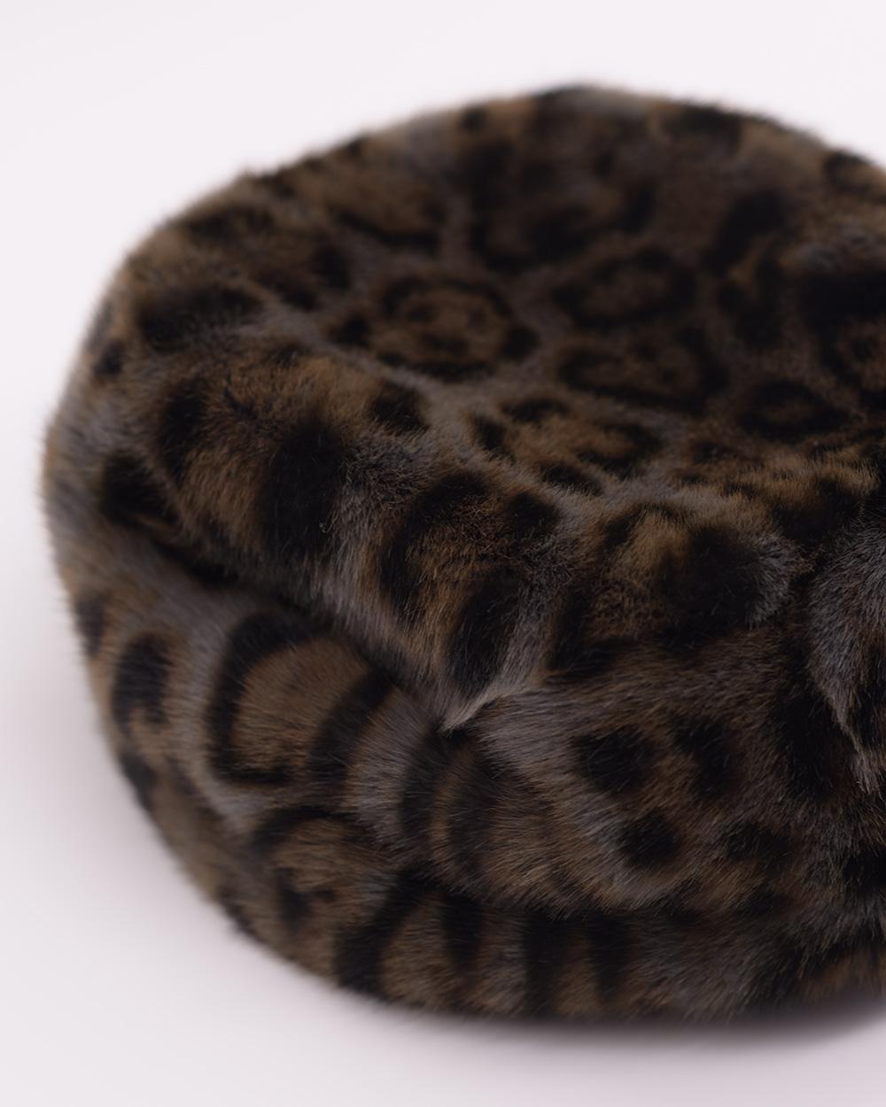 "Faux Fur Hat ""Gray Panther"""