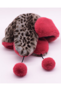 "Faux Fur Hat  ""Wild Cat Red"""
