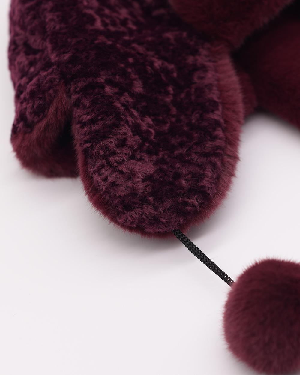 "Faux Fur Hat ""Purple"""