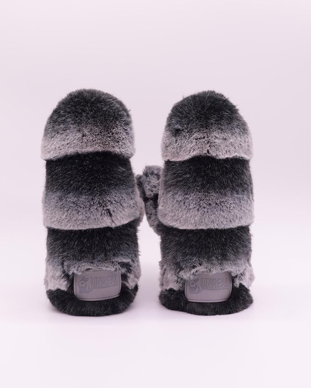 """Faux Fur Mittens """"Сhinchilla"""""""