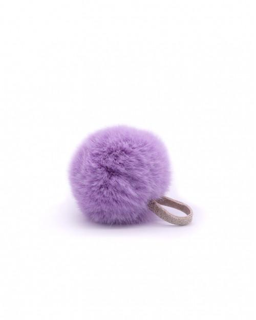 """Faux Fur Pompom """"Lilac"""""""