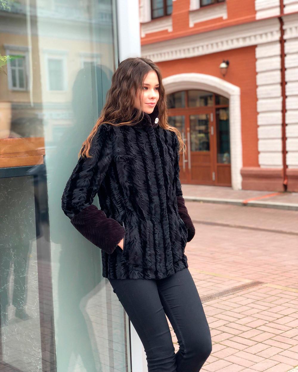 "Faux Fur Coat ""Broadtail"""