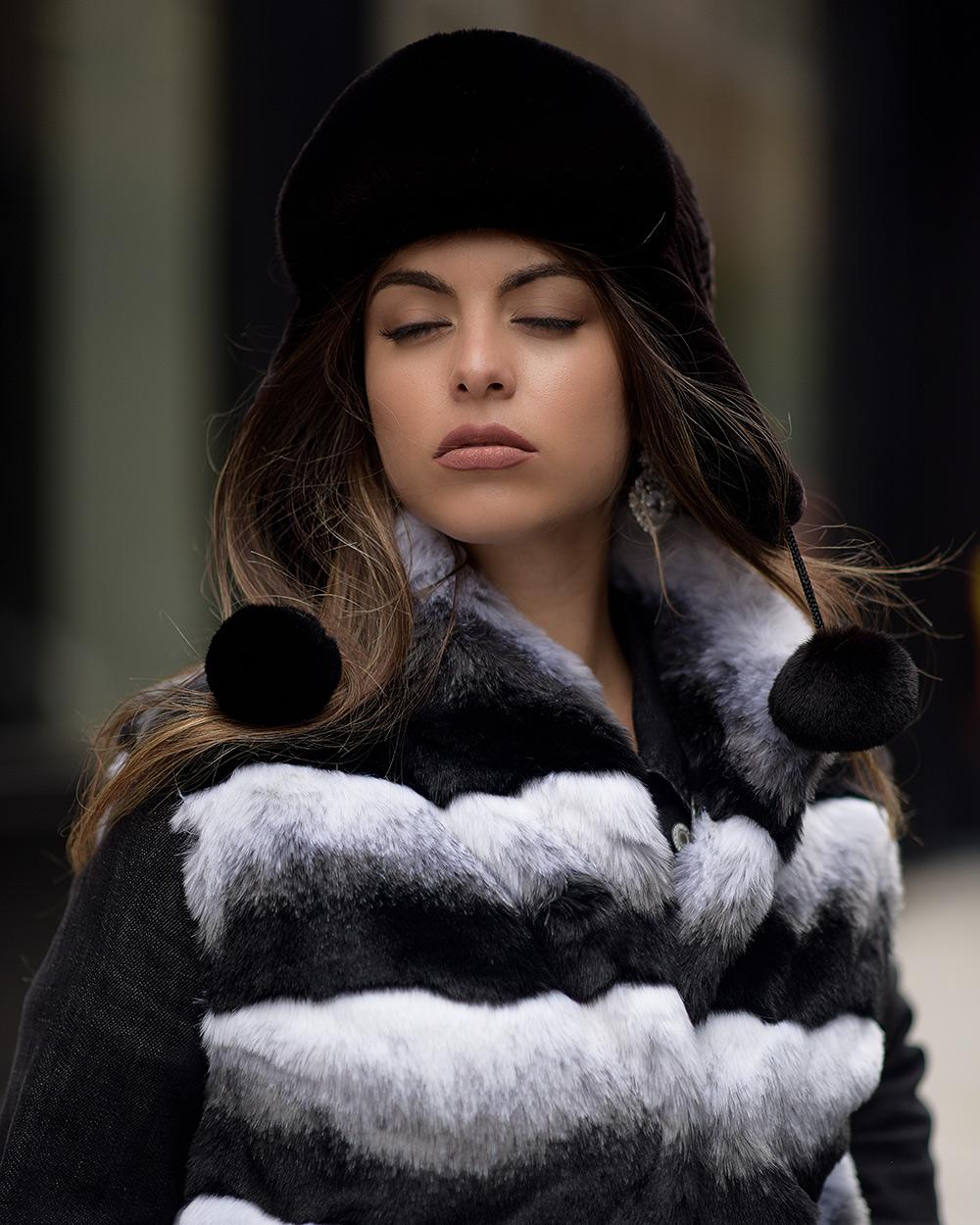 "Faux Fur Hat ""Dark Brown"""
