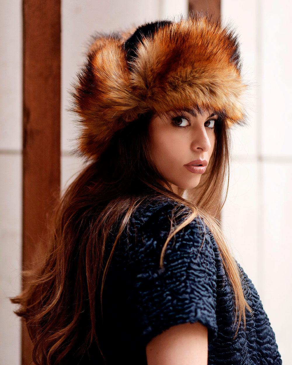 "Faux Fur Hat ""Red Fox"""