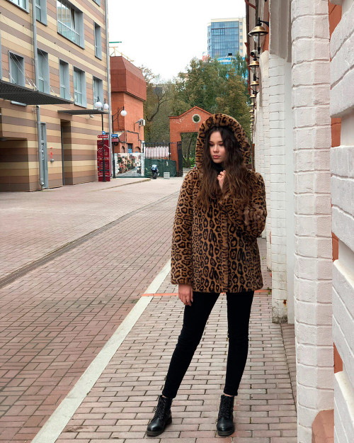 "Faux Fur Coat ""Leopard Print"""