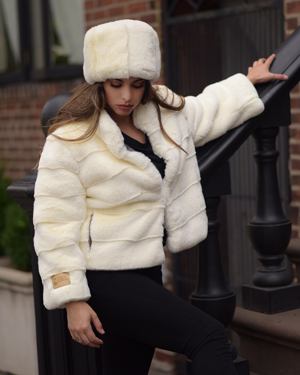 "Faux Fur Coat  ""Evening in New York"""
