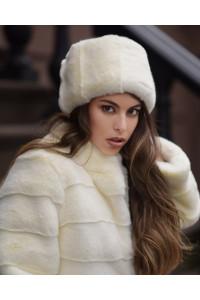 "Faux Fur Hat ""White Kubanka"""