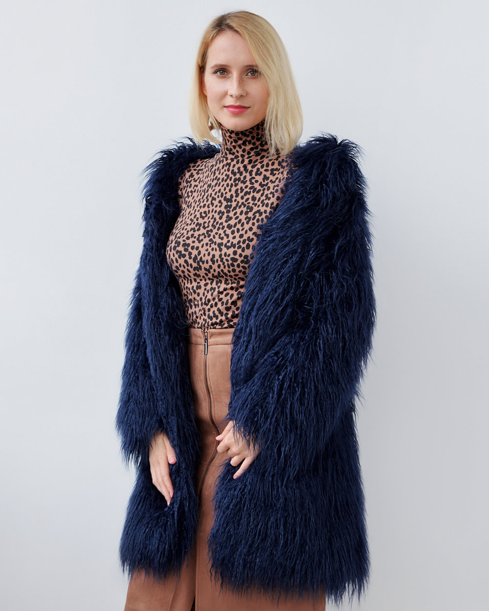 "Faux Fur Coat ""Hypnosis"""