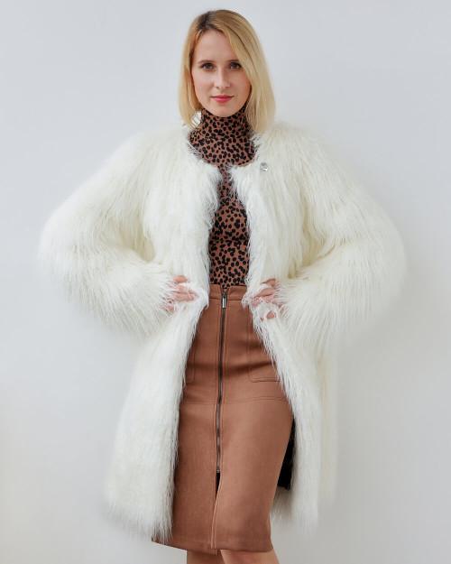 "Faux Fur Coat ""Here She Is"""