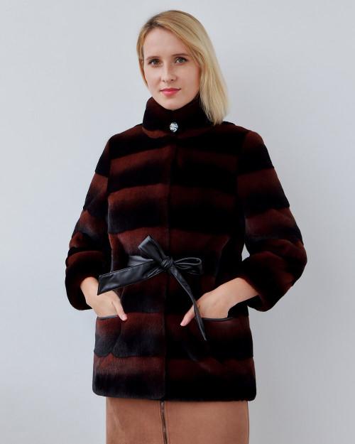 """Faux Fur Coat """"Black and Brown"""""""
