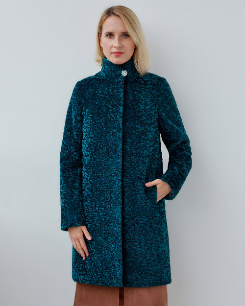 "Faux Fur Coat ""Aqua Chic"""