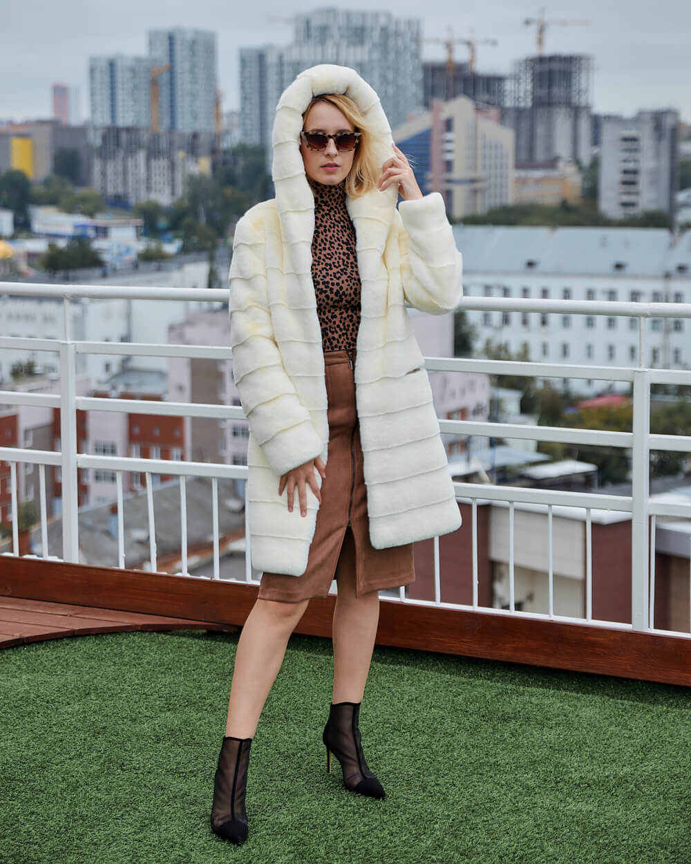 "Faux Fur Coat ""Sweet Love"""
