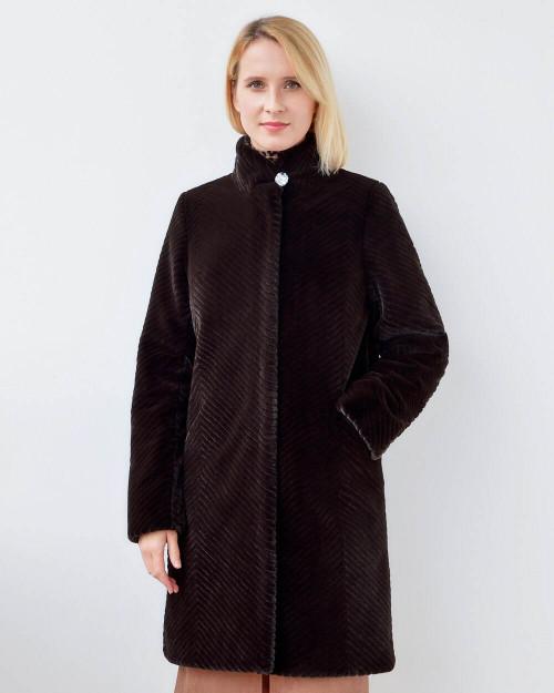 "Faux Fur Coat ""Chocolate"""
