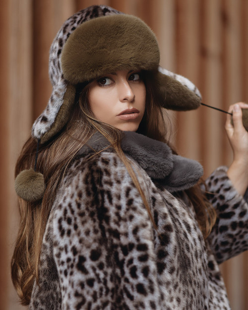 "Faux Fur Hat ""Wild Cat"""