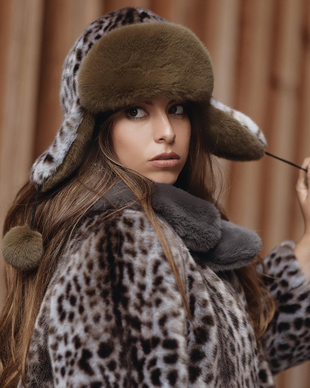 """Faux Fur Hat """"Wild Cat"""""""