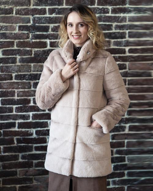 """Faux Fur Coat """"Pink Star"""""""