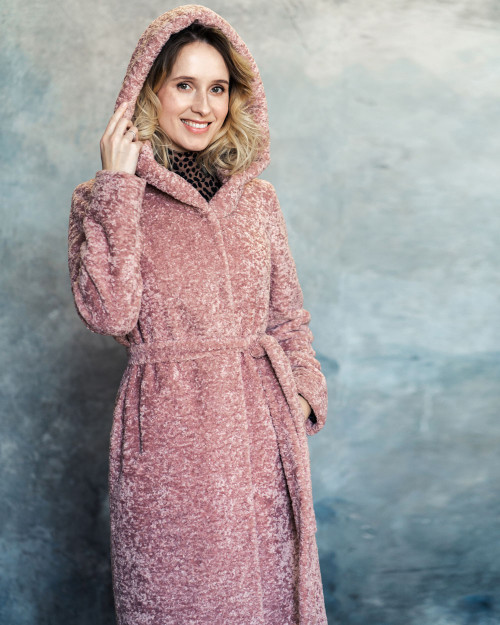 "Faux Fur Coat ""Blush"""