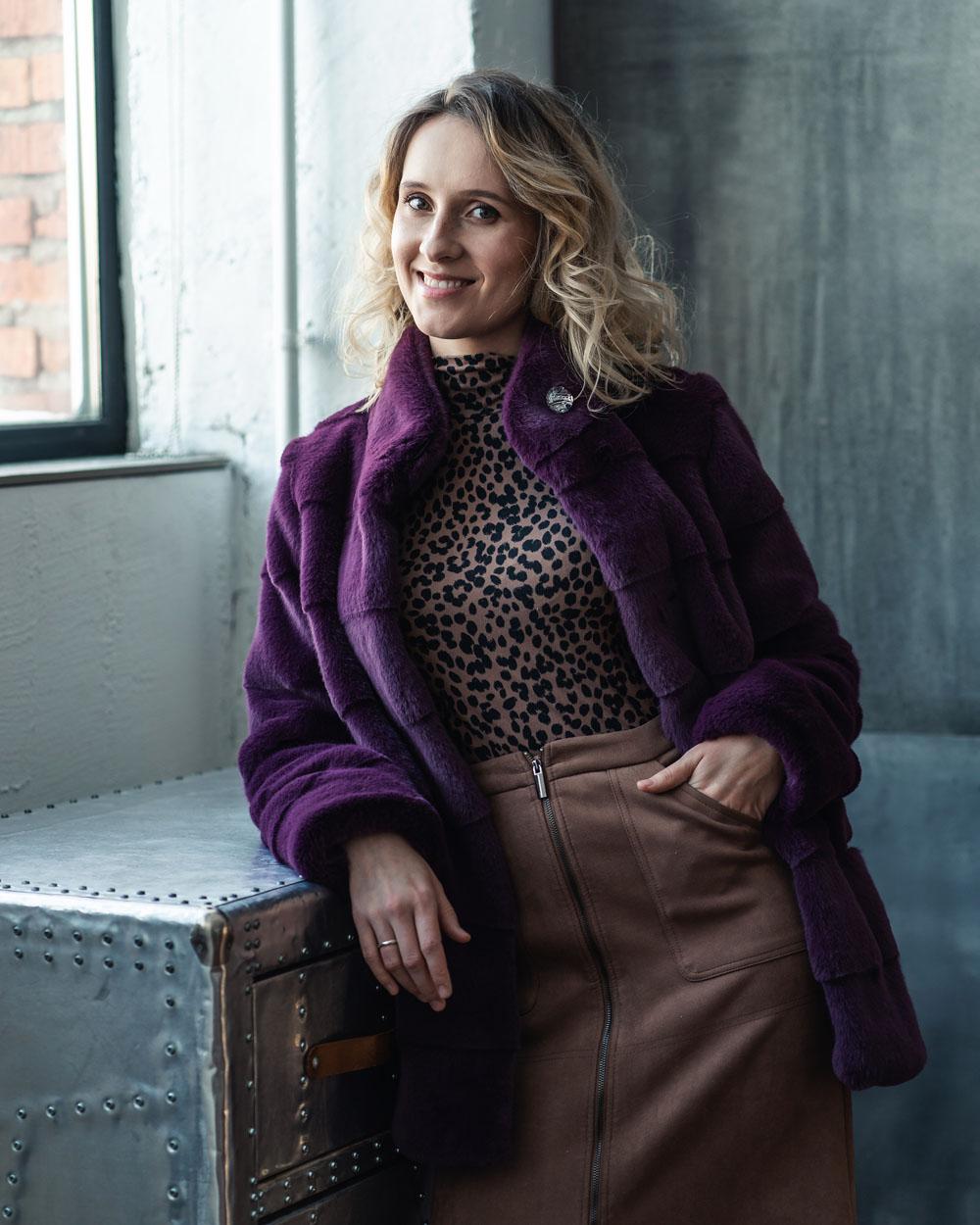 "Faux Fur Coat  ""Lovely Day"""