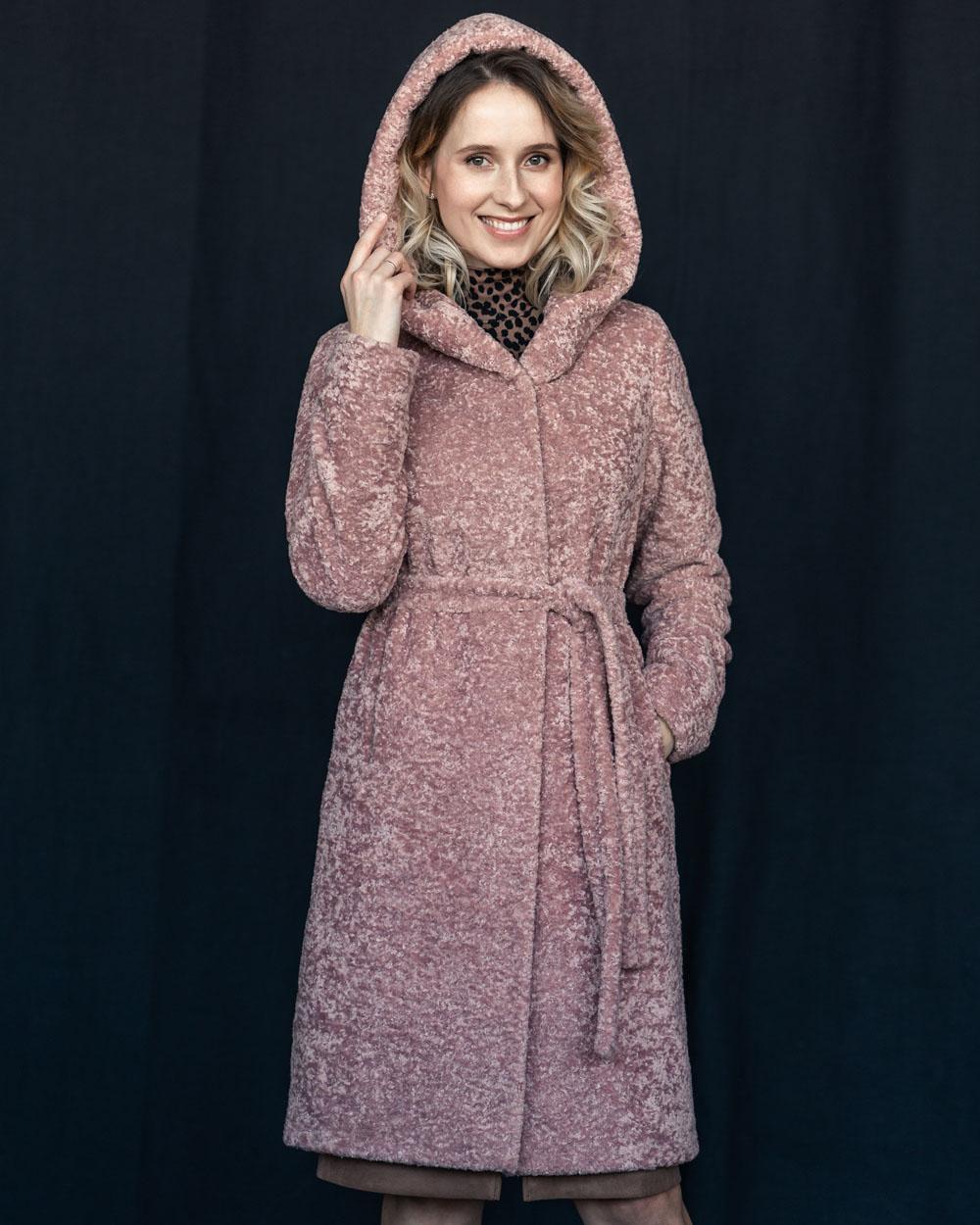 "Faux Fur Coat ""Blush"""