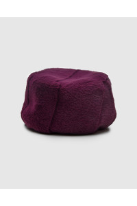 """Faux Fur Hat """"Purple Kubanka"""""""