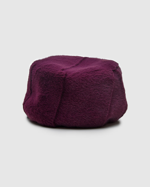 "Faux Fur Hat ""Purple Kubanka"""