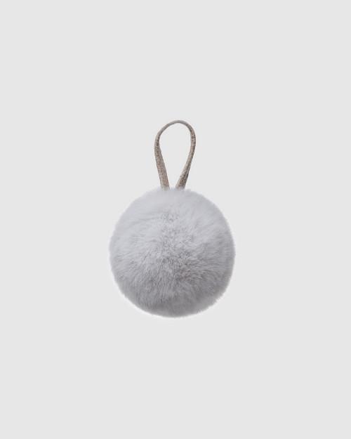 """Faux Fur Pompons """"Light Winter Charm"""""""