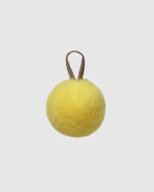 "Faux Fur Pompons ""Yellow"""